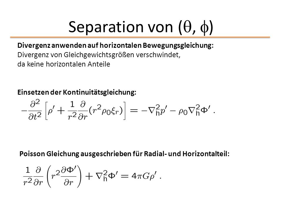 Separation von (, )