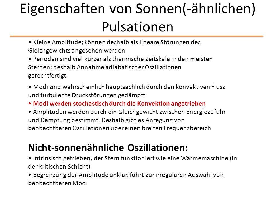 Eigenschaften von Sonnen(-ähnlichen) Pulsationen