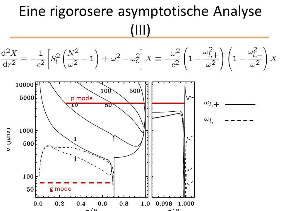 Eine rigorosere asymptotische Analyse (III)