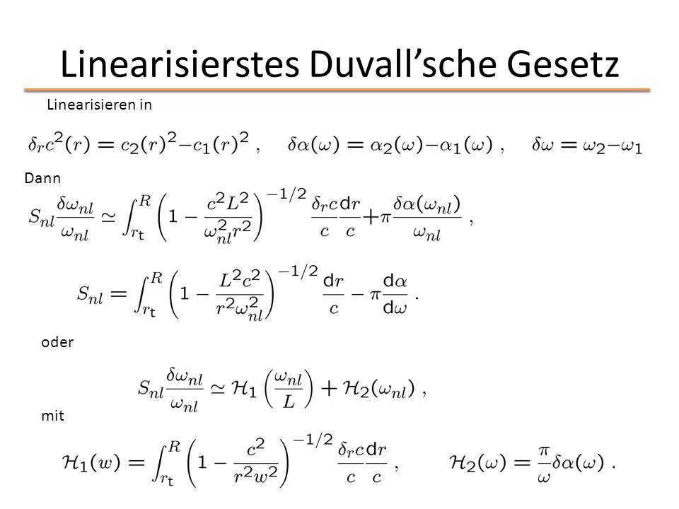 Linearisierstes Duvall'sche Gesetz