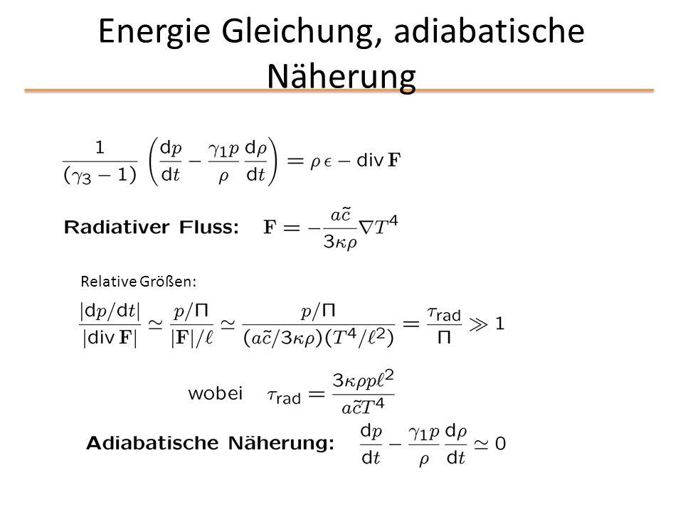 Energie Gleichung, adiabatische Näherung