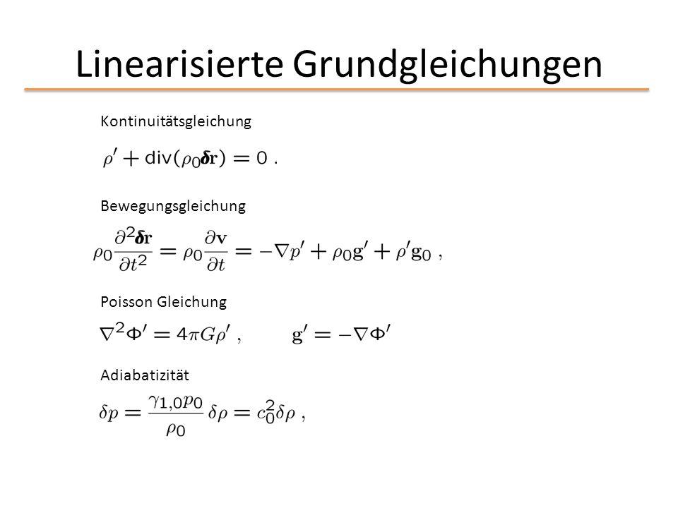 Linearisierte Grundgleichungen