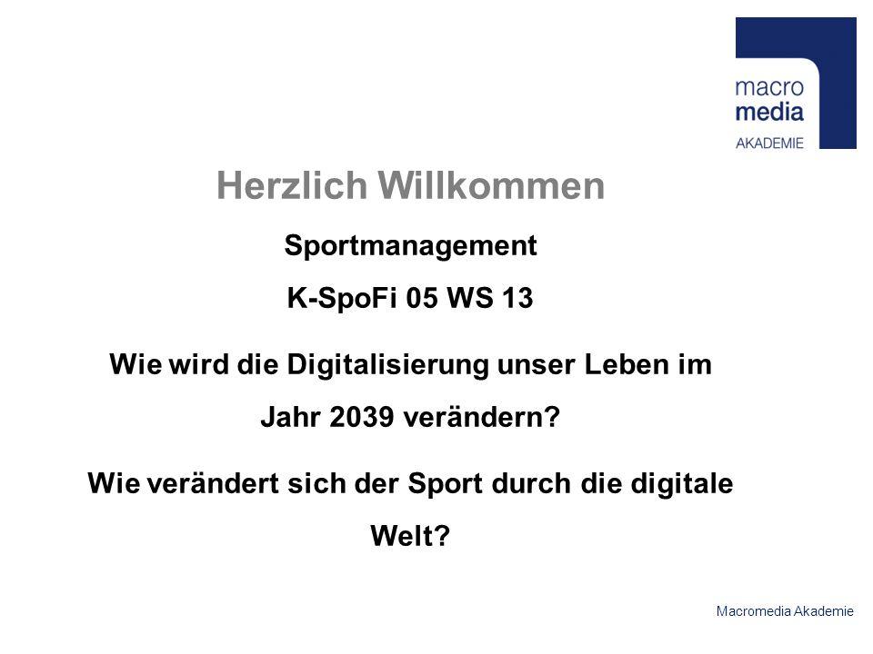 Herzlich Willkommen Sportmanagement K-SpoFi 05 WS 13