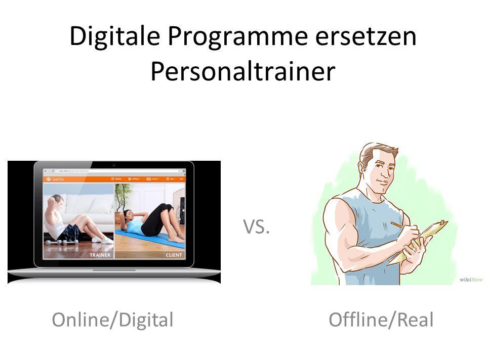 Digitale Programme ersetzen Personaltrainer
