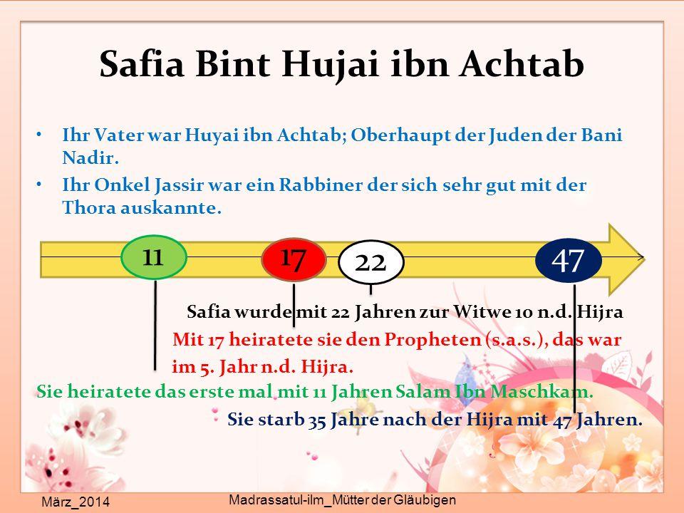 Safia Bint Hujai ibn Achtab
