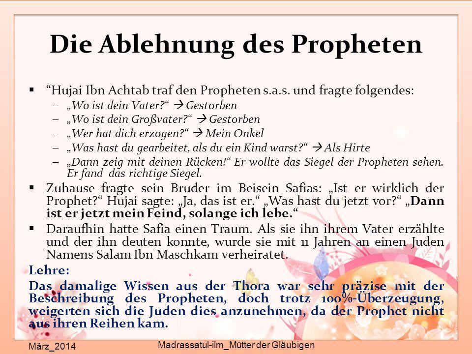 Die Ablehnung des Propheten