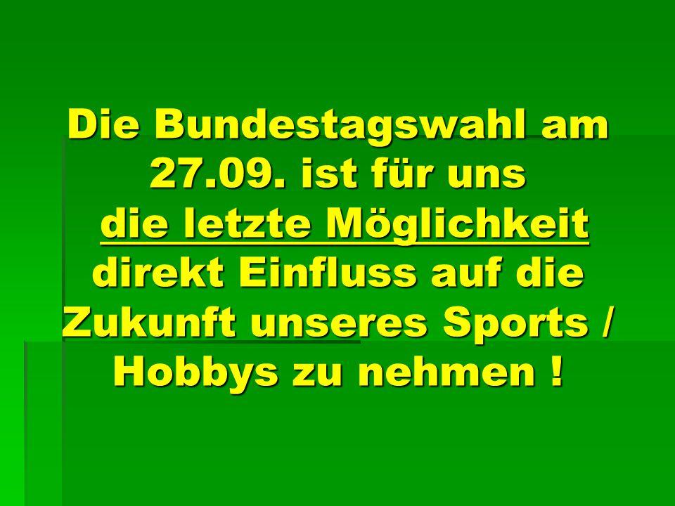 Die Bundestagswahl am 27.09.