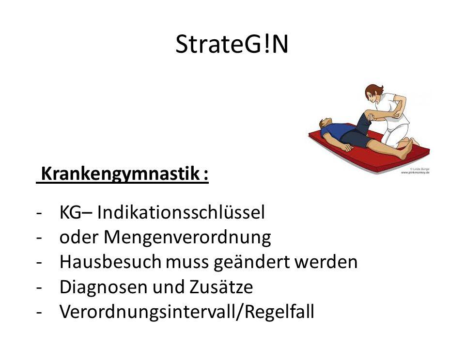 StrateG!N Krankengymnastik : KG– Indikationsschlüssel