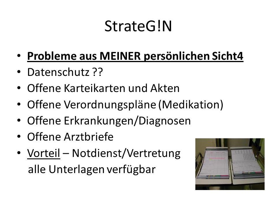StrateG!N Probleme aus MEINER persönlichen Sicht4 Datenschutz