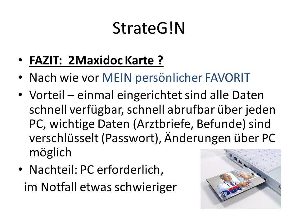 StrateG!N FAZIT: 2Maxidoc Karte