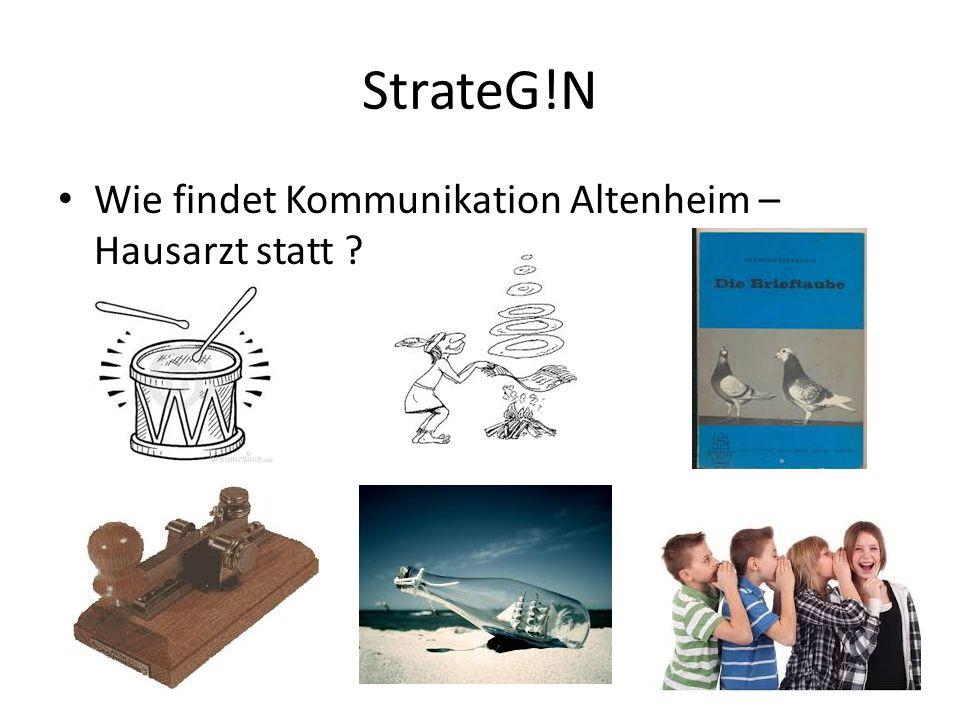 StrateG!N Wie findet Kommunikation Altenheim – Hausarzt statt