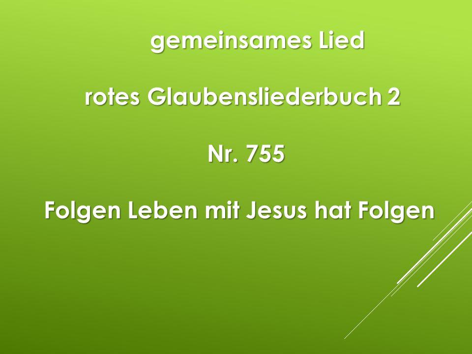 Folgen Leben mit Jesus hat Folgen