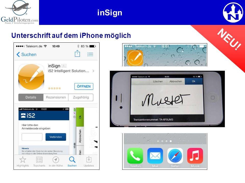 inSign NEU! Unterschrift auf dem iPhone möglich