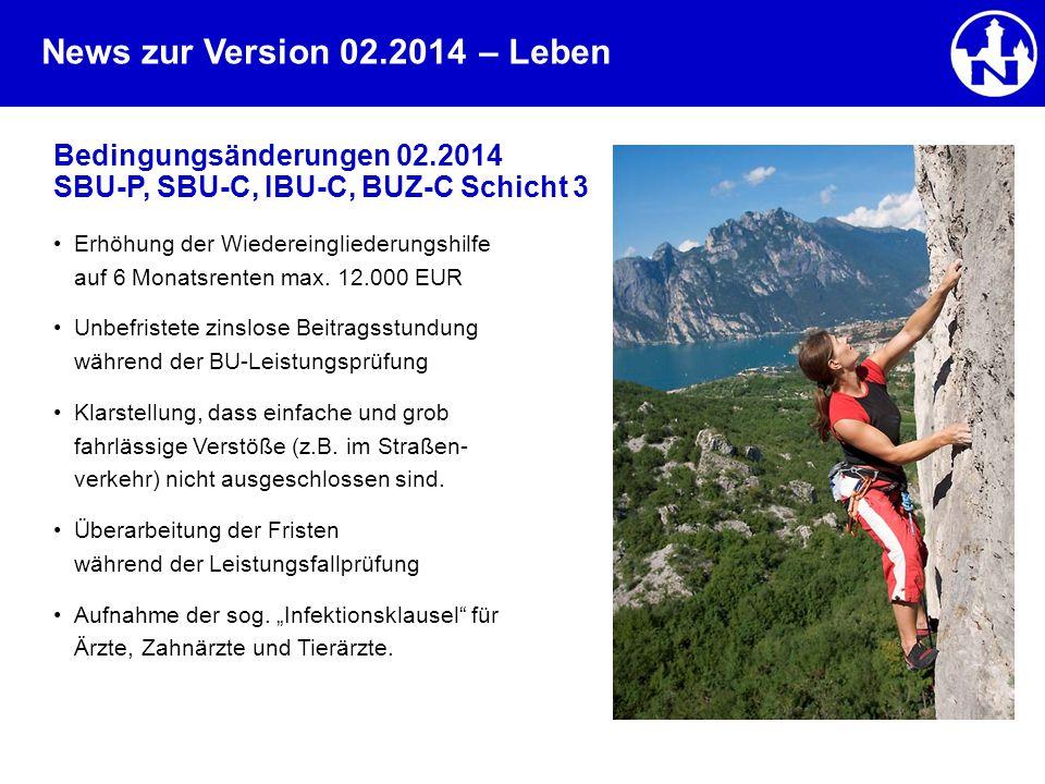 – Leben Bedingungsänderungen 02.2014 SBU-P, SBU-C, IBU-C, BUZ-C Schicht 3.