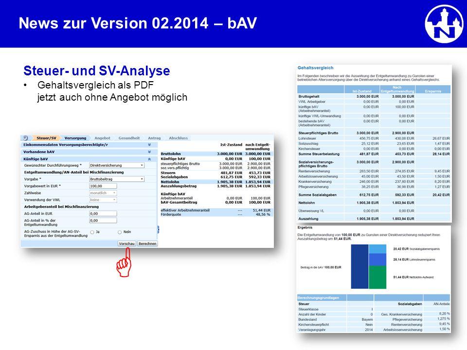  – bAV Steuer- und SV-Analyse