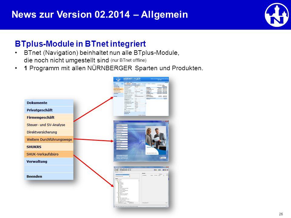 – Allgemein BTplus-Module in BTnet integriert