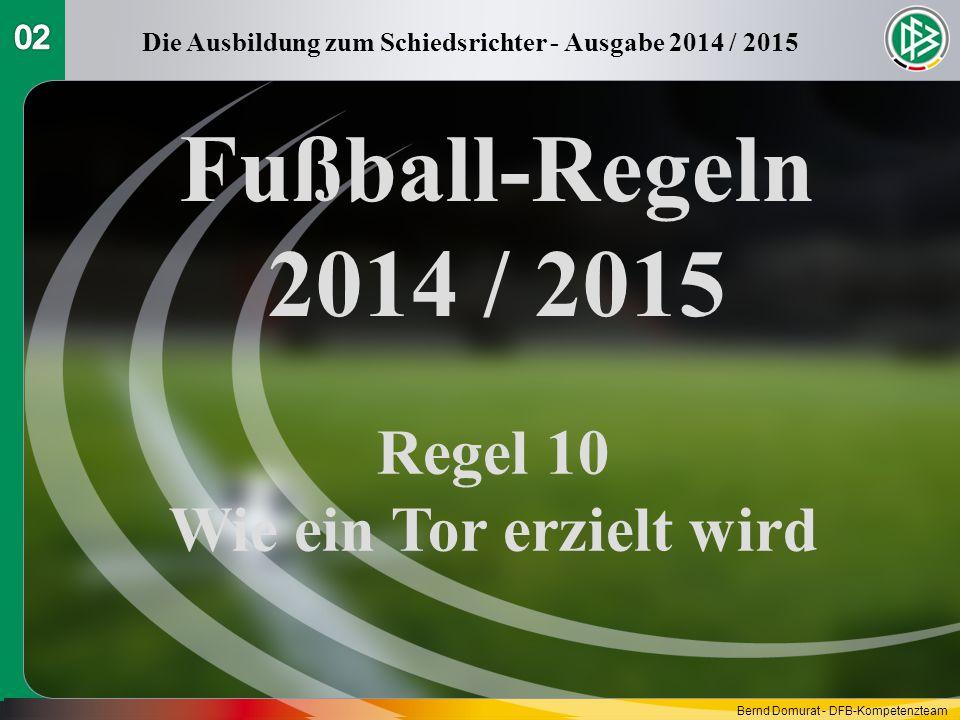 Fußball-Regeln 2014 / 2015 Regel 10 Wie ein Tor erzielt wird 02