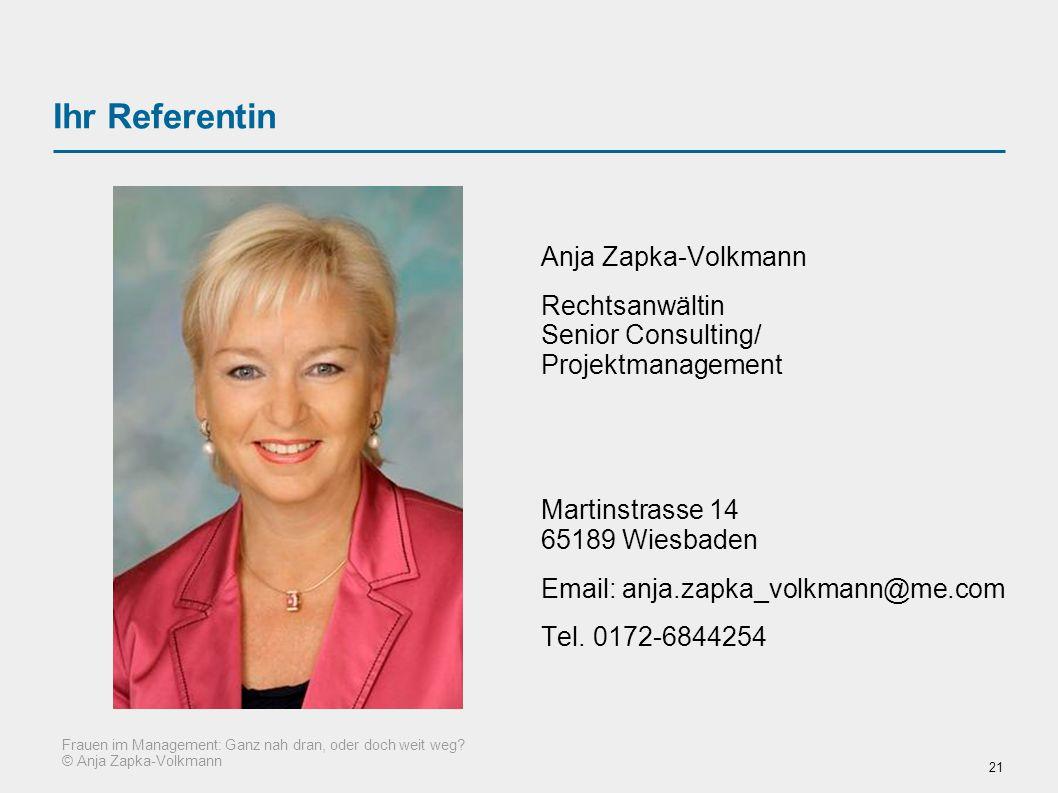 Ihr Referentin Anja Zapka-Volkmann