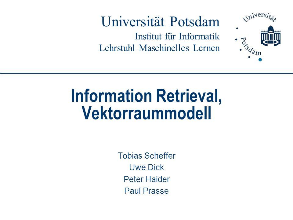 Information Retrieval, Vektorraummodell