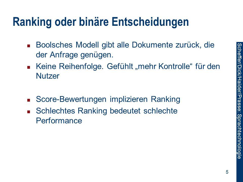 Ranking oder binäre Entscheidungen