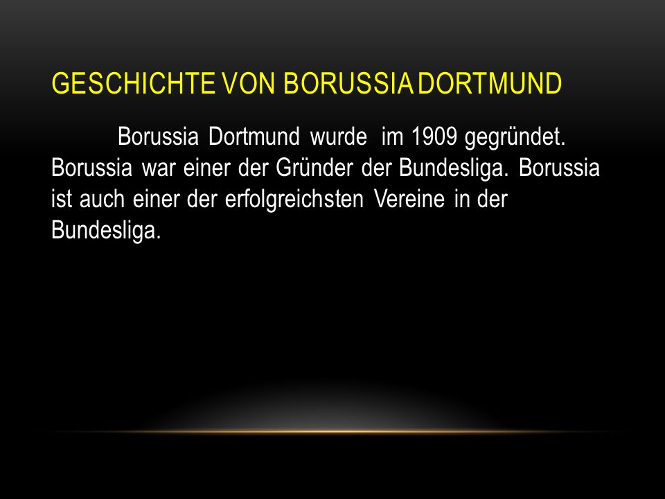 Geschichte von borussia dortmund