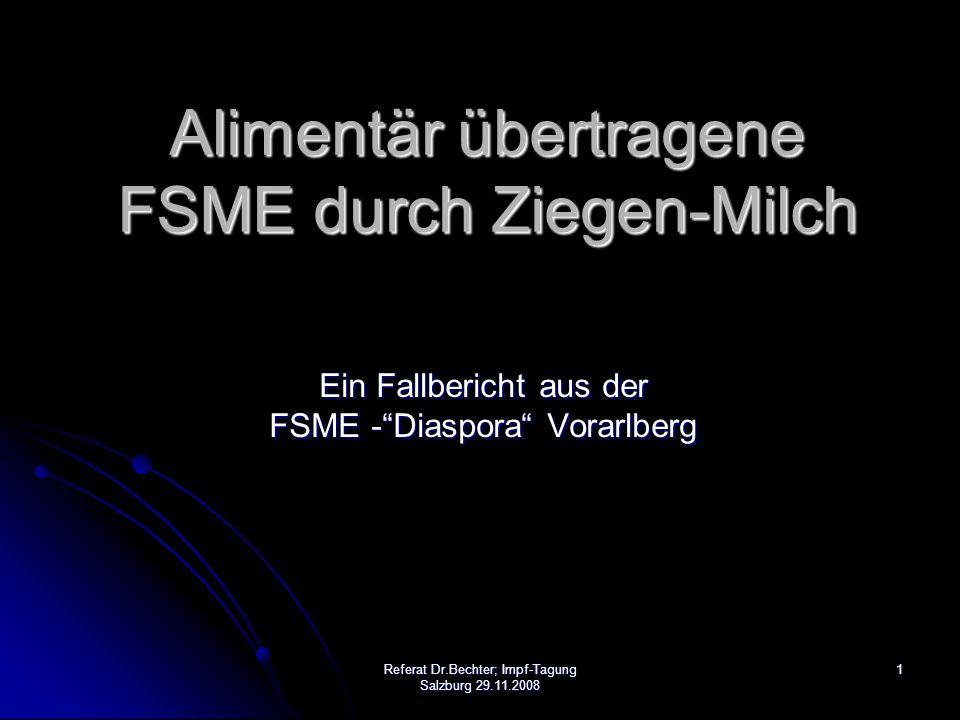 Alimentär übertragene FSME durch Ziegen-Milch