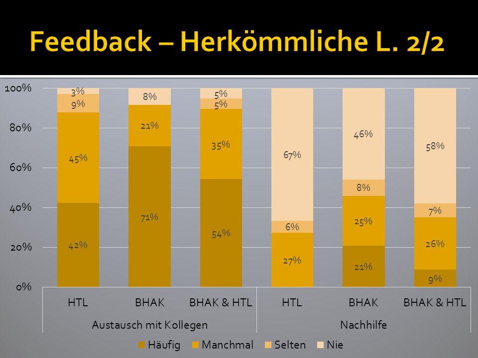 Feedback – Herkömmliche L. 2/2