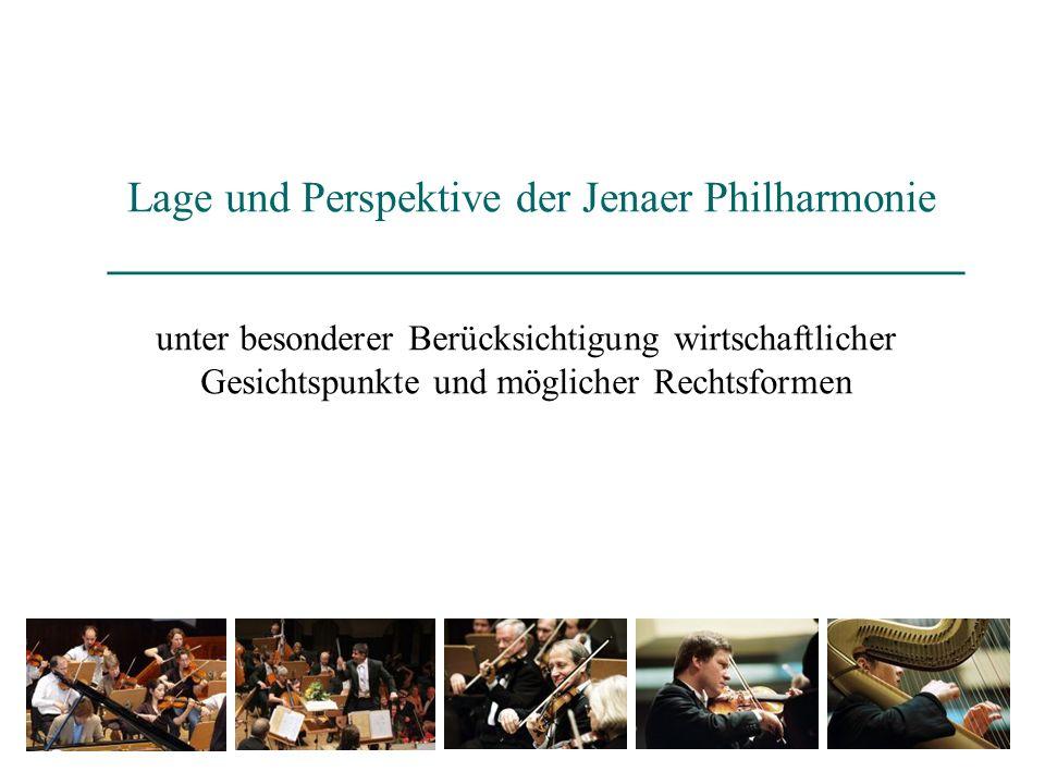 Lage und Perspektive der Jenaer Philharmonie ______________________________________