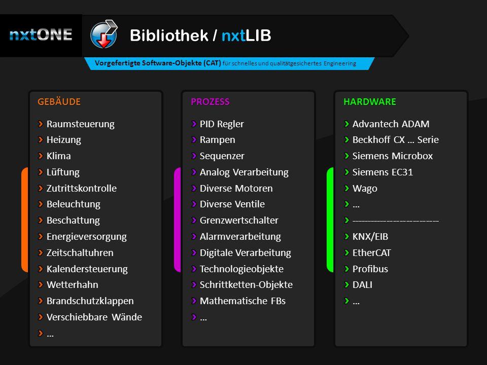 Bibliothek / nxtLIB GEBÄUDE Raumsteuerung Heizung Klima Lüftung