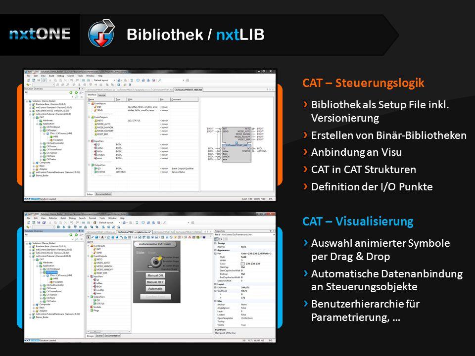 Bibliothek / nxtLIB CAT – Steuerungslogik CAT – Visualisierung