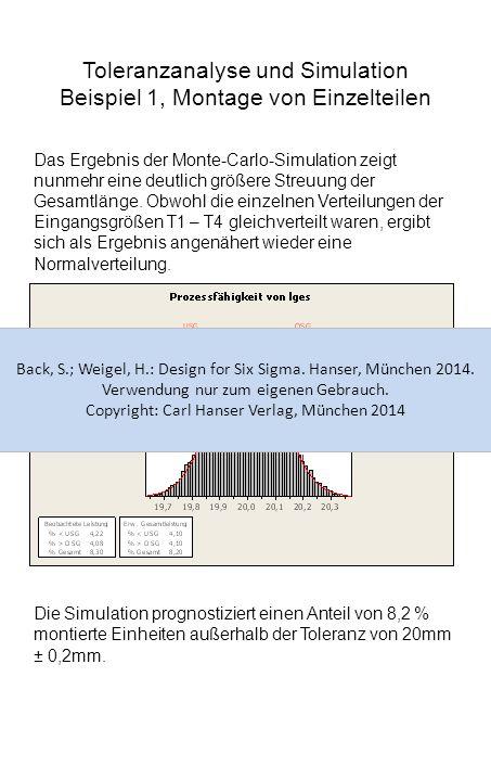 Toleranzanalyse und Simulation Beispiel 1, Montage von Einzelteilen