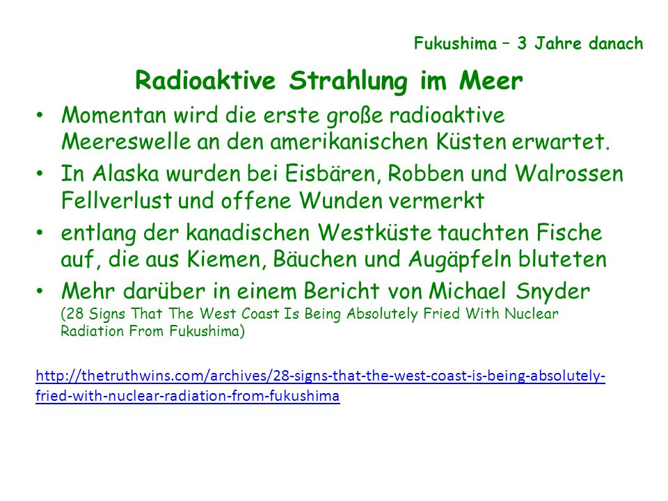 Radioaktive Strahlung im Meer
