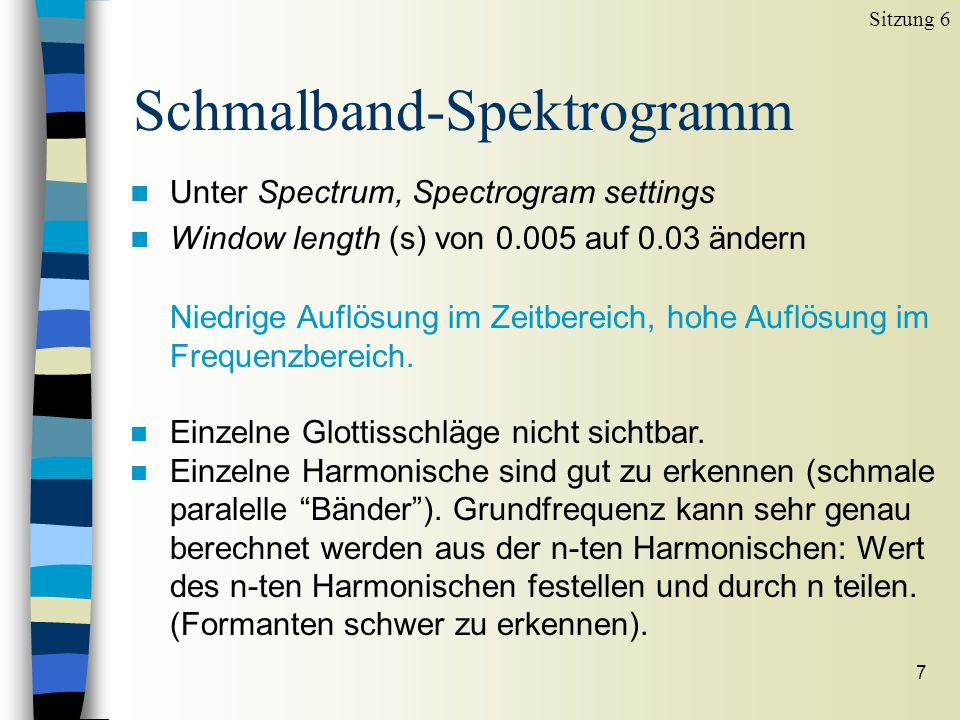 Schmalband-Spektrogramm