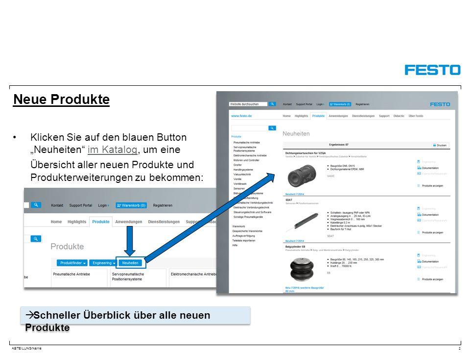 """Neue Produkte Klicken Sie auf den blauen Button """"Neuheiten im Katalog, um eine."""