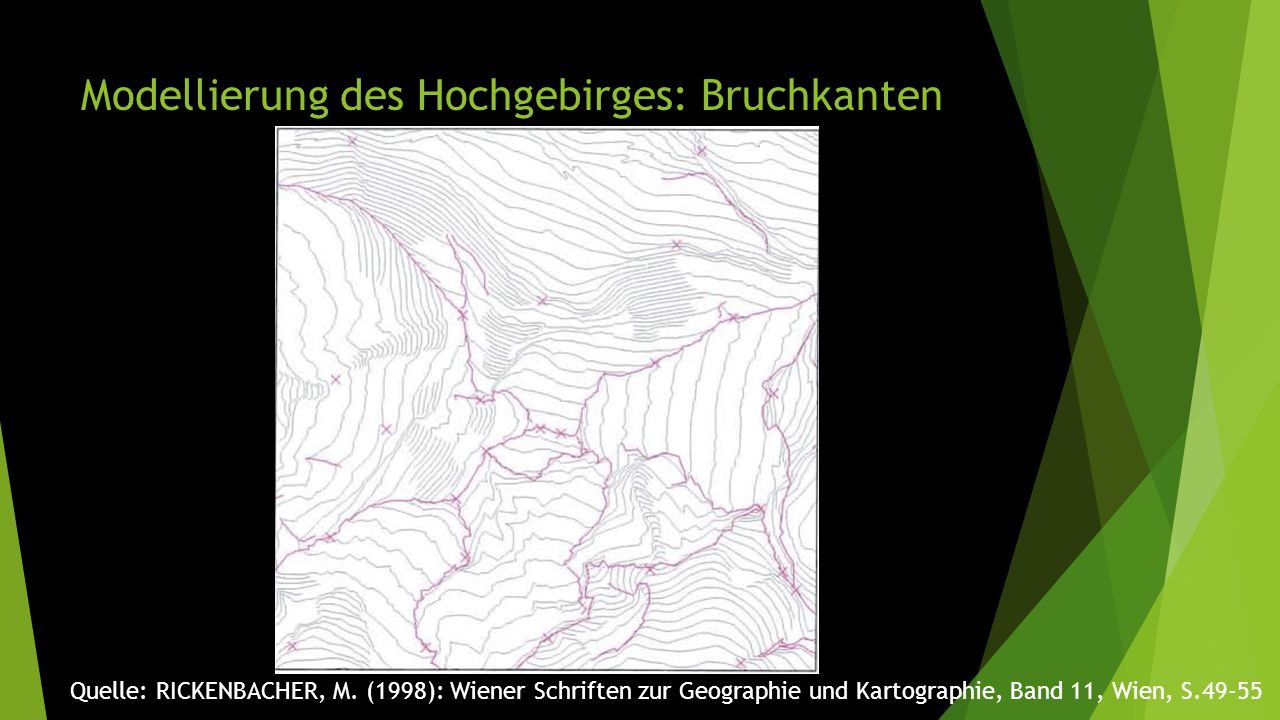 Modellierung des Hochgebirges: Bruchkanten