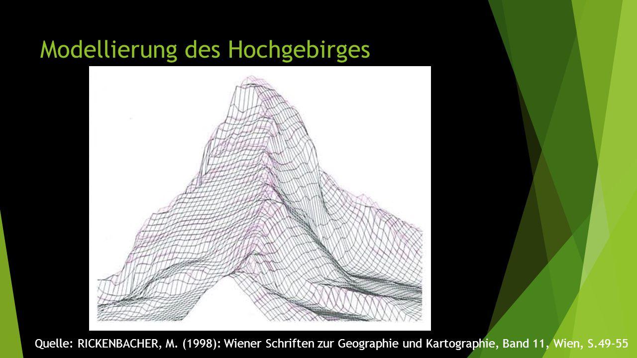 Modellierung des Hochgebirges