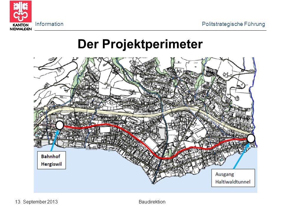 Der Projektperimeter Information Politstrategische Führung