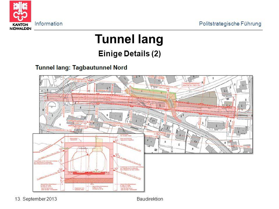 Tunnel lang Einige Details (2) Information Politstrategische Führung