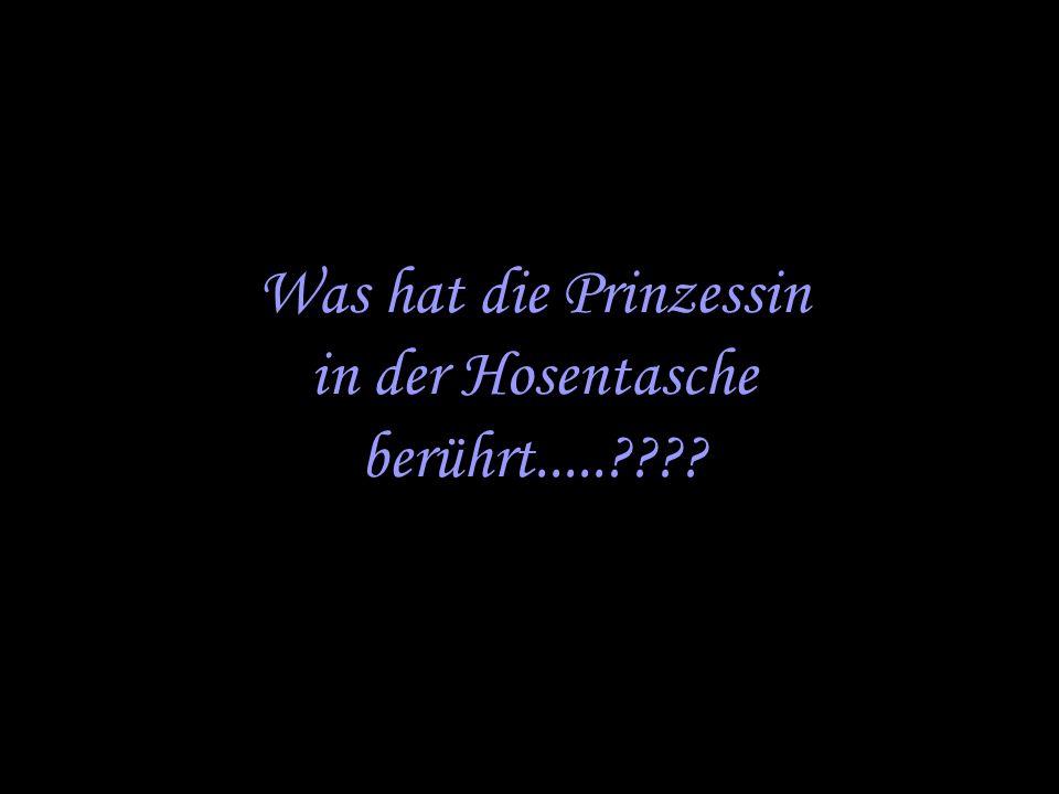 Was hat die Prinzessin in der Hosentasche berührt.....