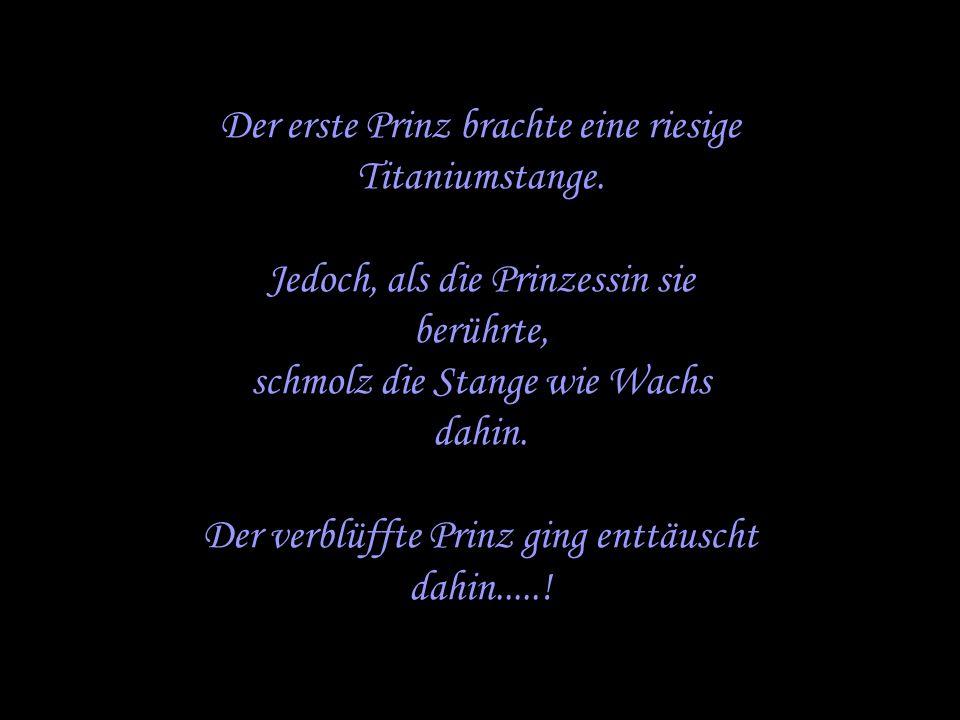 Der erste Prinz brachte eine riesige Titaniumstange