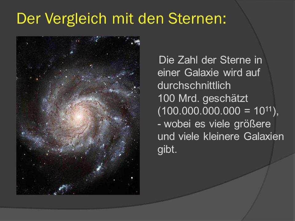 Der Vergleich mit den Sternen: