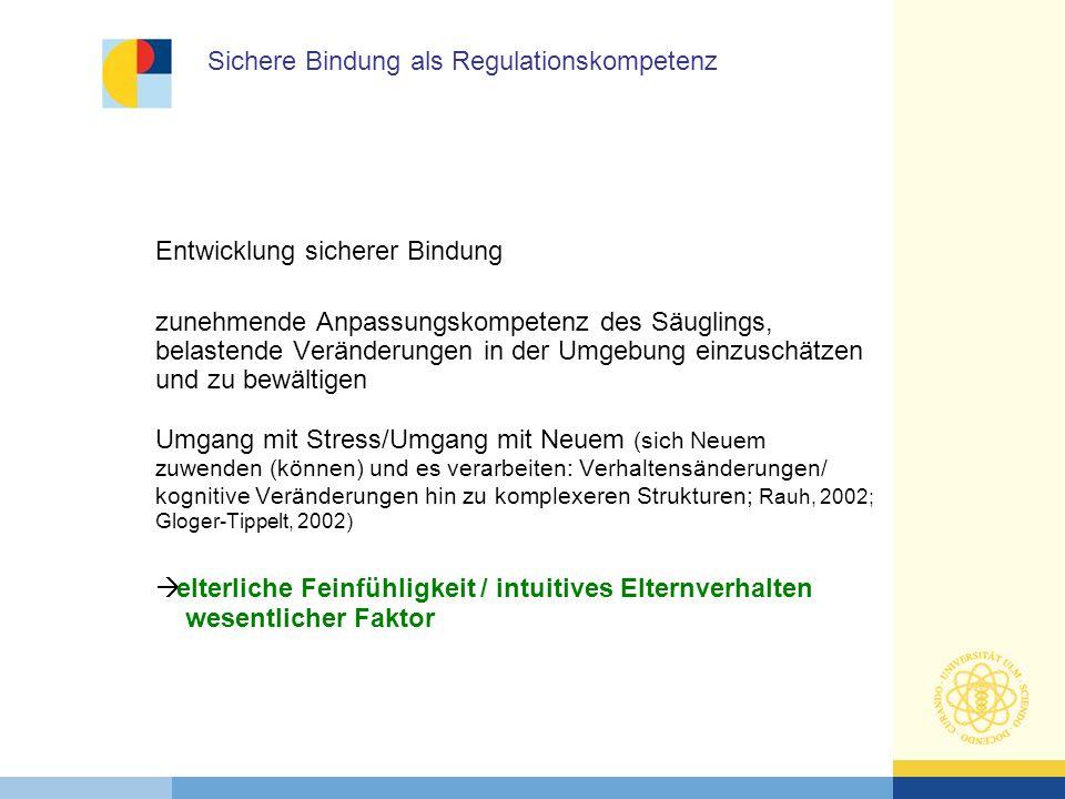 Sichere Bindung als Regulationskompetenz