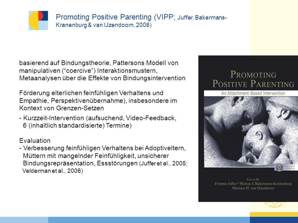 Promoting Positive Parenting (VIPP; Juffer, Bakermans-Kranenburg & van IJzendoorn, 2008)