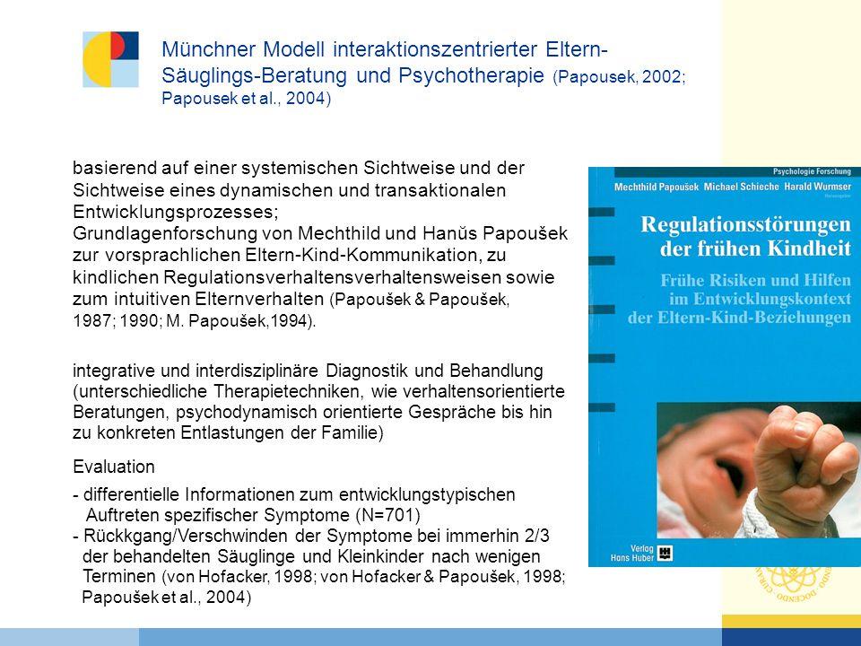 Münchner Modell interaktionszentrierter Eltern-Säuglings-Beratung und Psychotherapie (Papousek, 2002; Papousek et al., 2004)