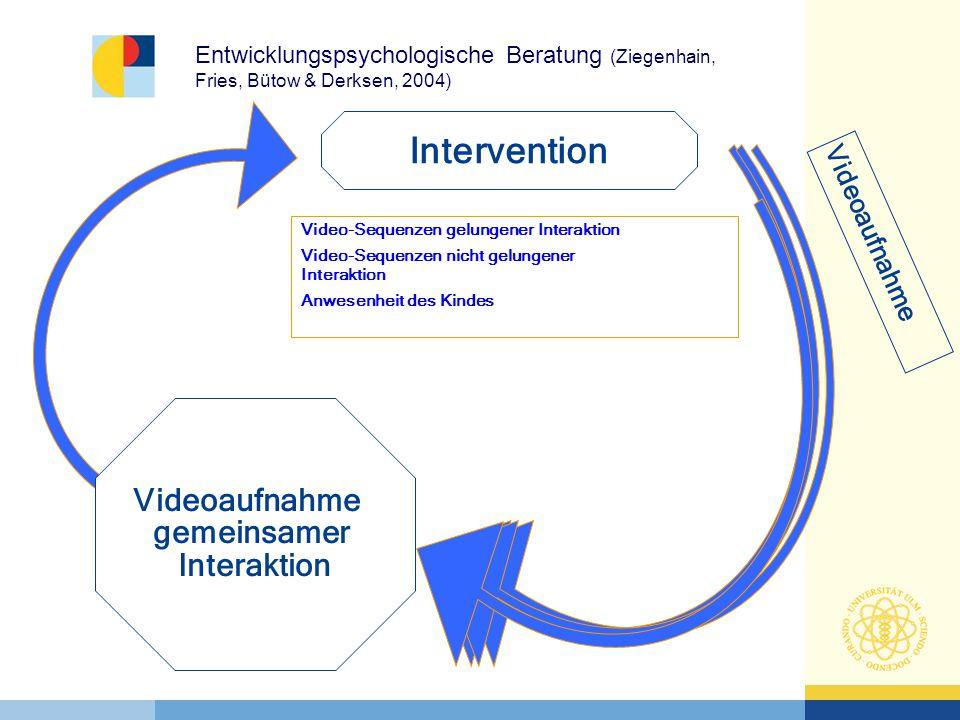 Intervention Videoaufnahme gemeinsamer Interaktion Videoaufnahme