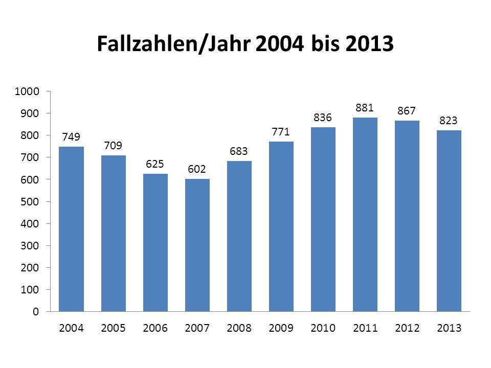 Fallzahlen/Jahr 2004 bis 2013
