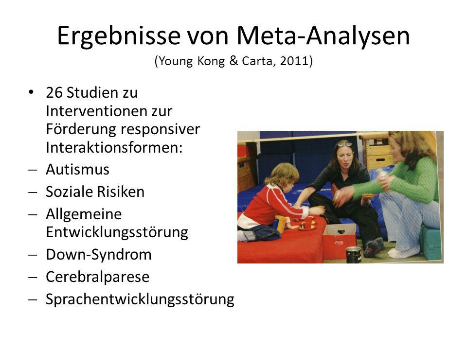 Ergebnisse von Meta-Analysen (Young Kong & Carta, 2011)