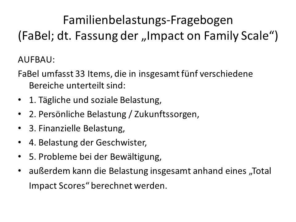 Familienbelastungs-Fragebogen (FaBel; dt