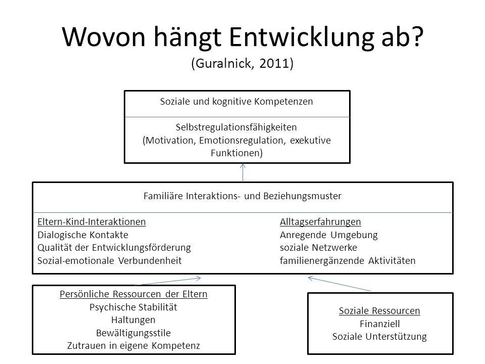 Wovon hängt Entwicklung ab (Guralnick, 2011)