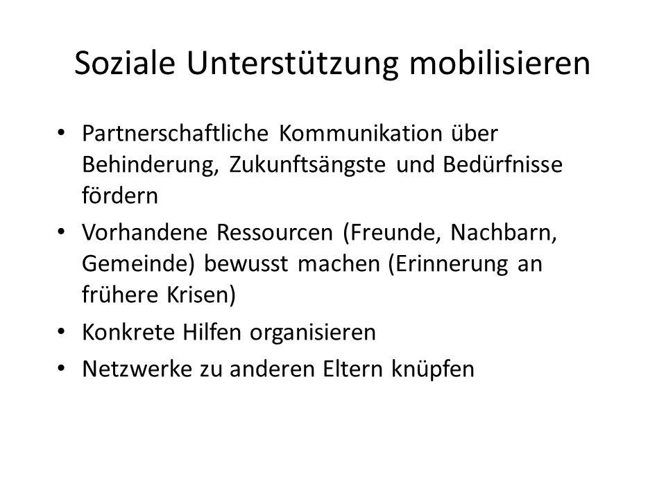 Soziale Unterstützung mobilisieren